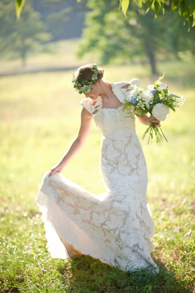 Свадебный венок на голову
