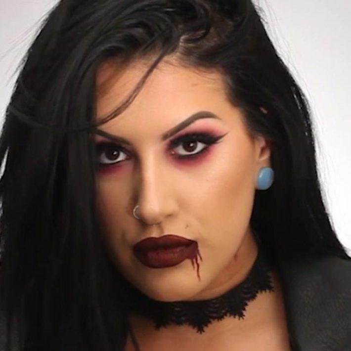 Макияж на хеллоуин вампирша