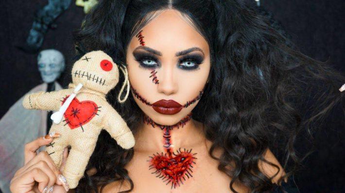 Макияж на хеллоуин кукла