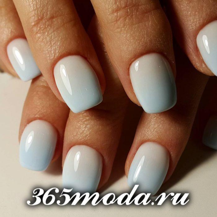 белый короткие квадратные ногти
