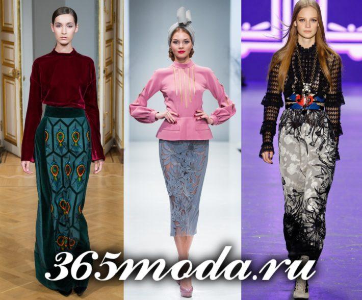 юбки 2018-2019 года модные тенденции