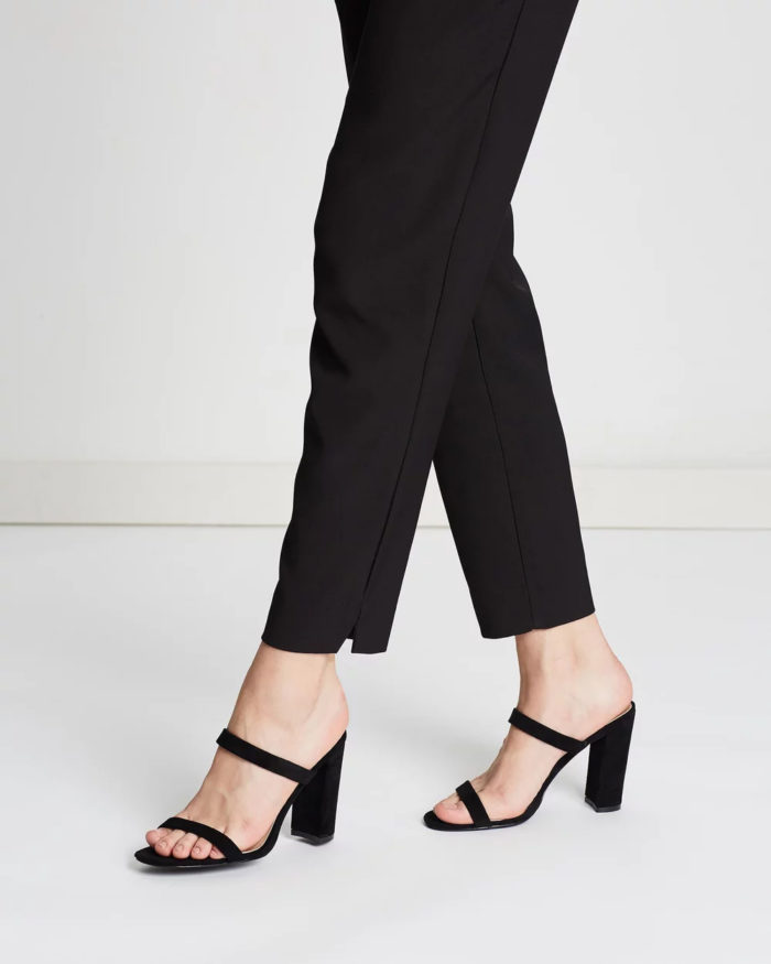 черные толстый каблук