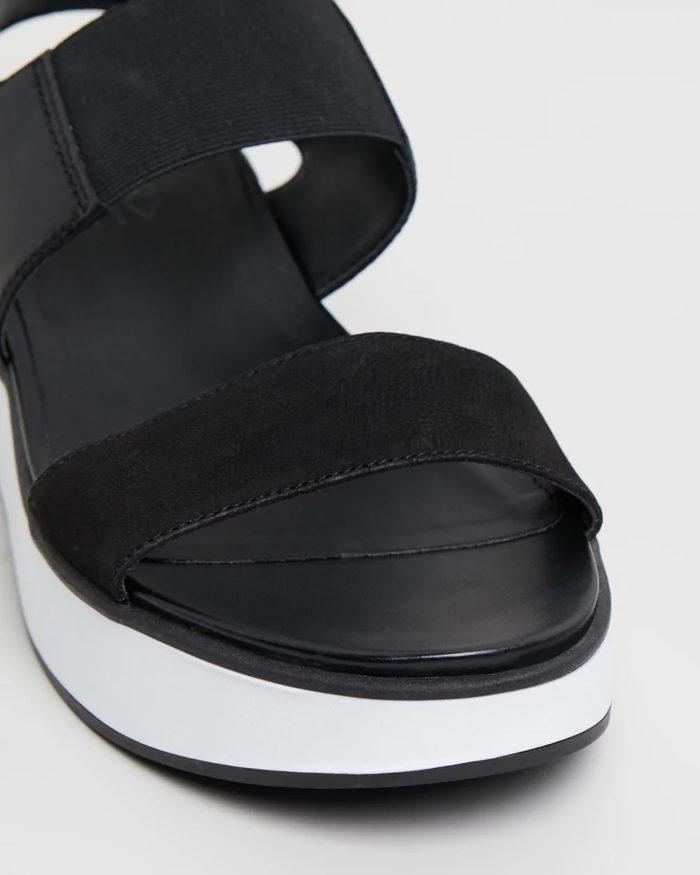 черные с белой полосой на платформе