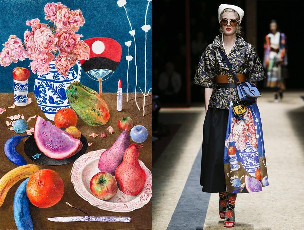 Образ из коллекции Prada и натюрморт Кристофа Шемена