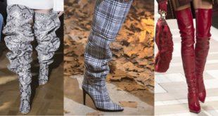 365 мода Модные ботфорты 2017 новинки фото