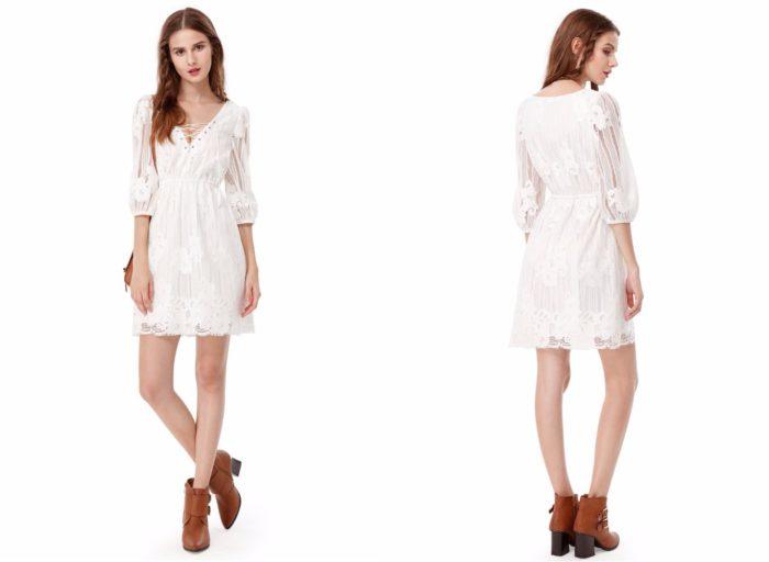 Белое вечернее платье 2019-2020
