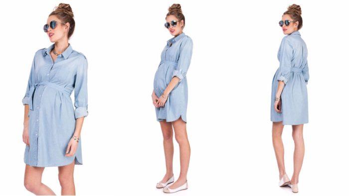 Вечернее платье-рубашка для беременной