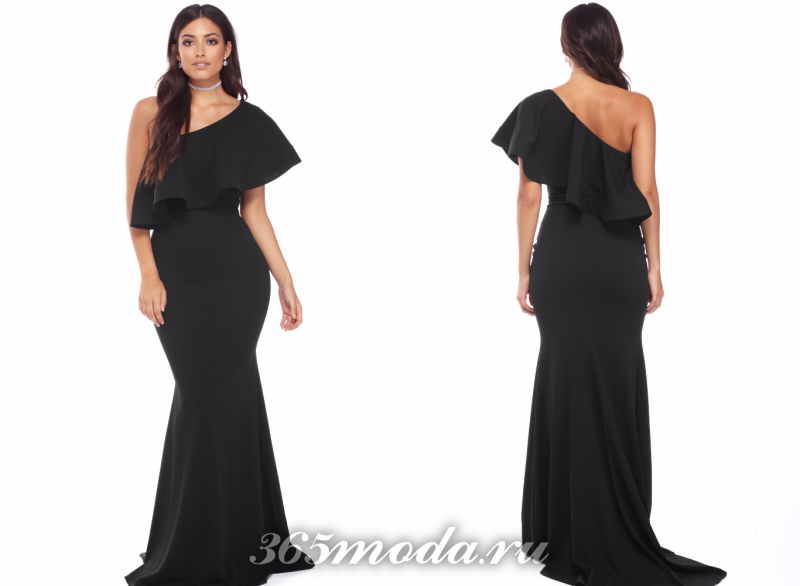 Черное вечернее платье 2018-2019