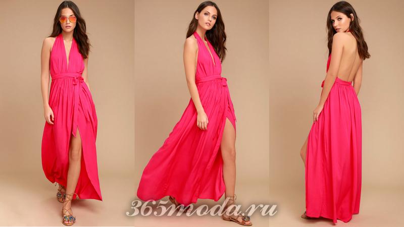 Красное вечернее платье 2018-2019