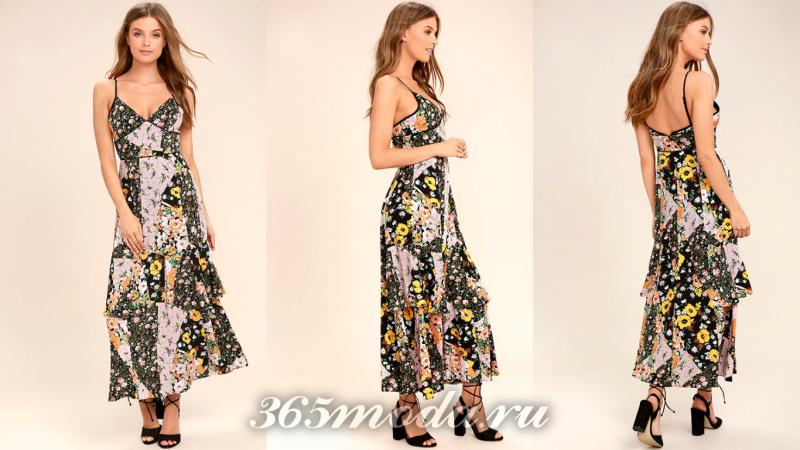 Длинное вечернее платье 2018-2019