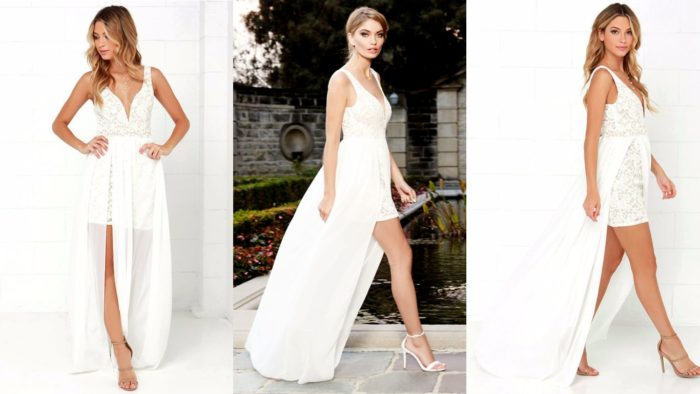 Вечерние платья: Длинное белое