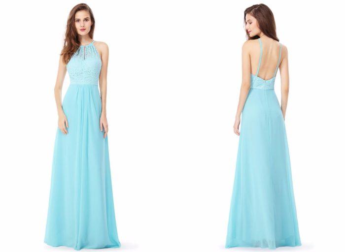 Вечерние платья 2019-2020: Голубое красивое