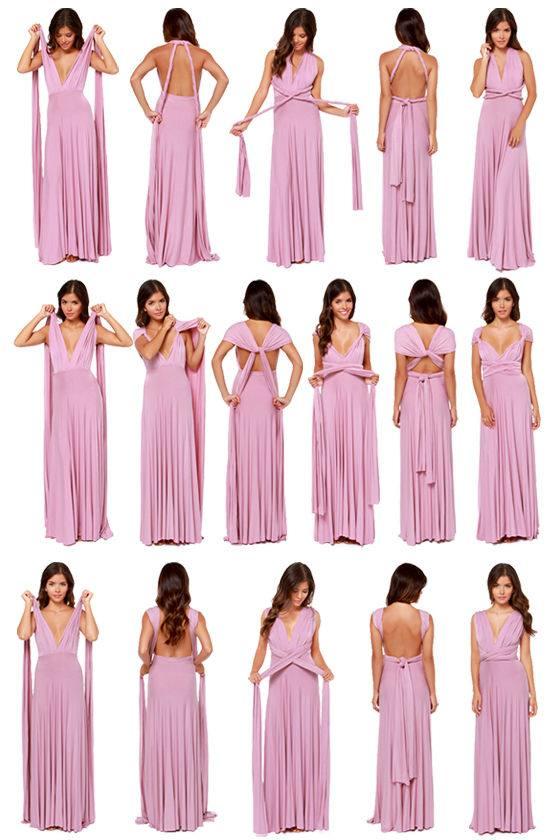 Розовое красивое вечернее платье