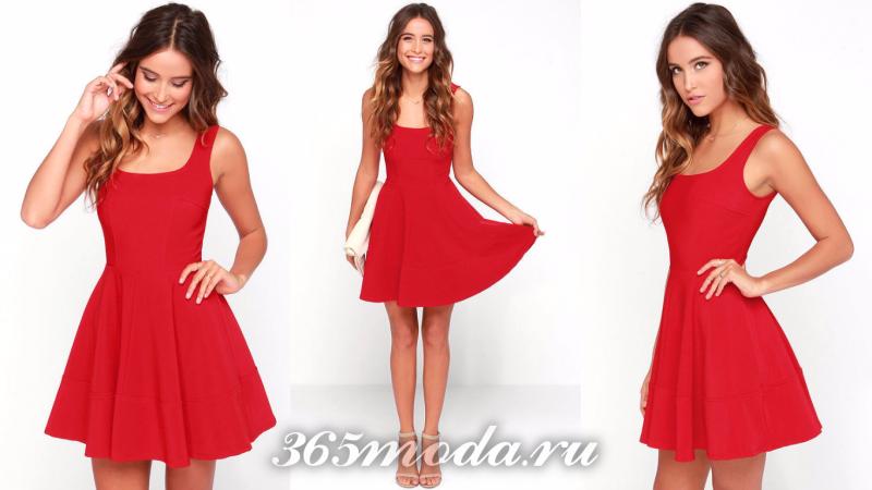 Красное вечернее платье 2018
