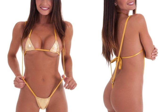 Купальники мини бикини и микро бикини 2020: золотой