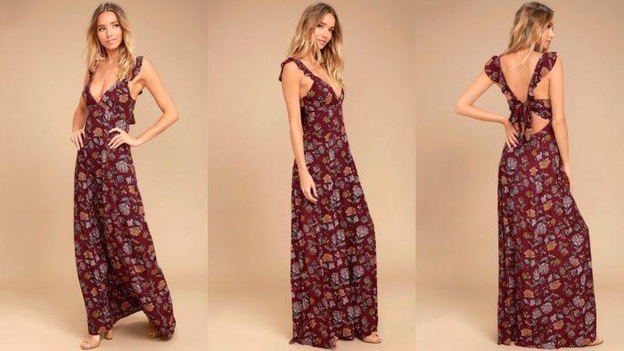 Вечерние платья: Длинное с принтом