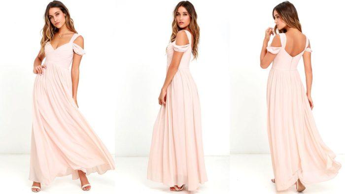 Вечерние платья: Длинное розовое