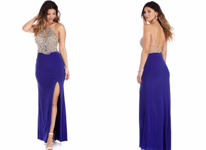 Вечерние платья 2019-2020: Синее красивое