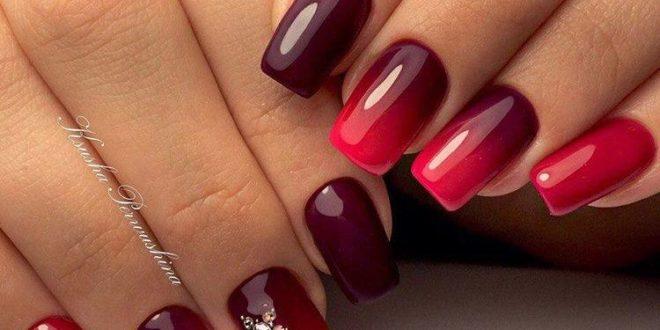 Красивый красно-черный дизайн ногтей 2020–2021: 45идей.