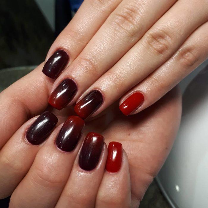 дизайн красно черных ногтей фото