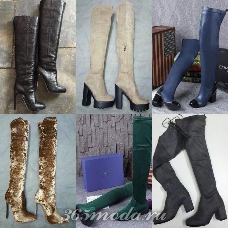 модные материалы ботфортов