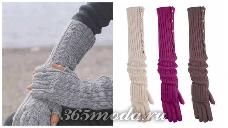 вязанные длинные перчатки 2019 2019