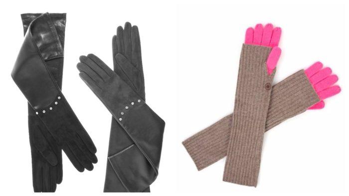 модные длинные перчатки 2019-2020