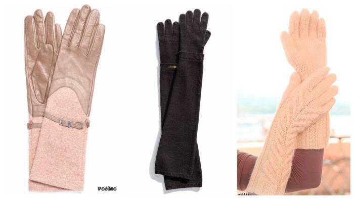модные длинные перчатки сезона 2019-2020