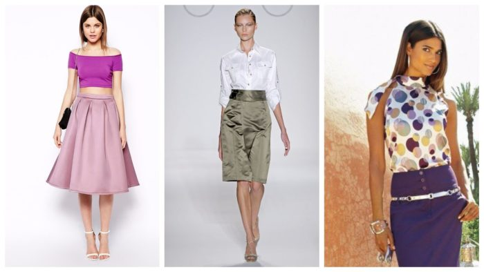 модная одежда из атласа