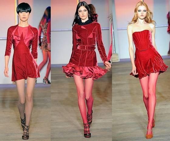красные платья из бархата