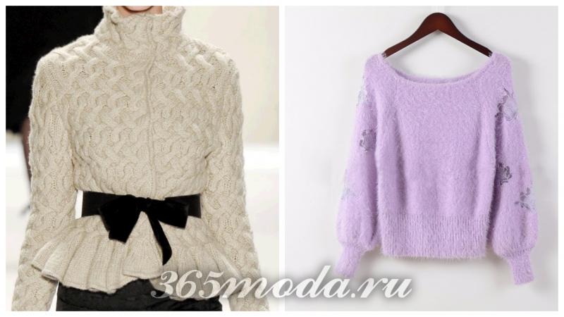 модный зимний свитер 2018