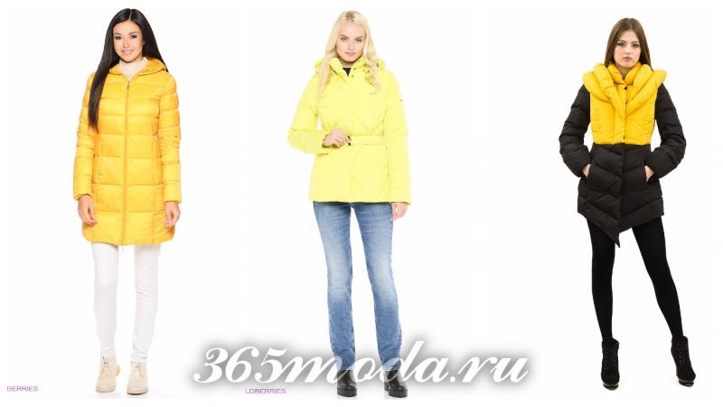 модные цвета женских пуховиков зима 2018-2019