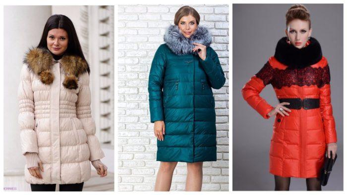 модные фасоны пуховиков зимы