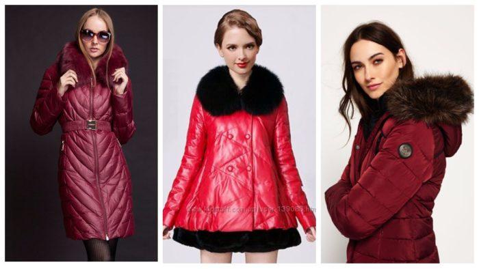зимние модные женские фасоны пуховиков