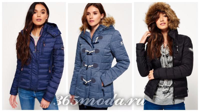 модные фасоны женских зимних пуховиков 2018-2019 года