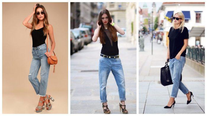 модные бойфренды джинсы 2019-2020
