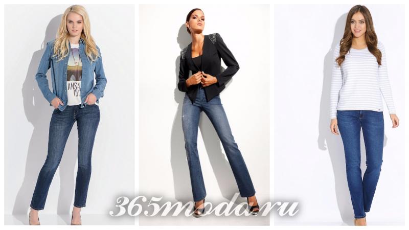 модные классические джинсы 2018-2019: синие потертые