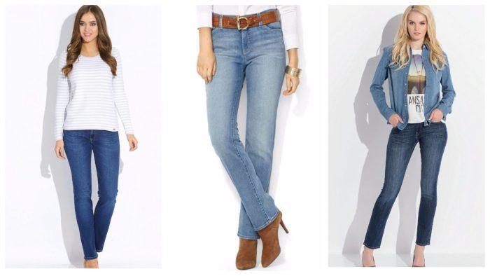 модные классические джинсы 2019-2020 синие