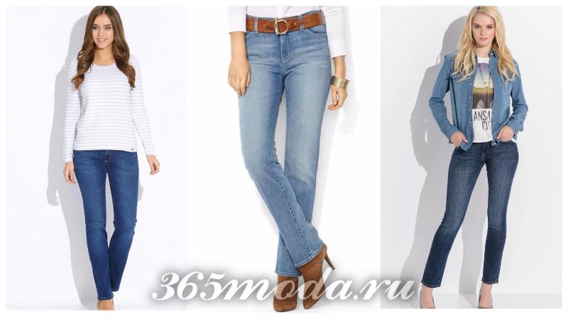 модные классические джинсы 2018-2019 синие