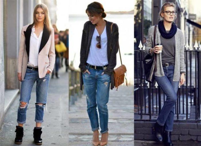 модные джинсы бойфренды рваные 2019-2020