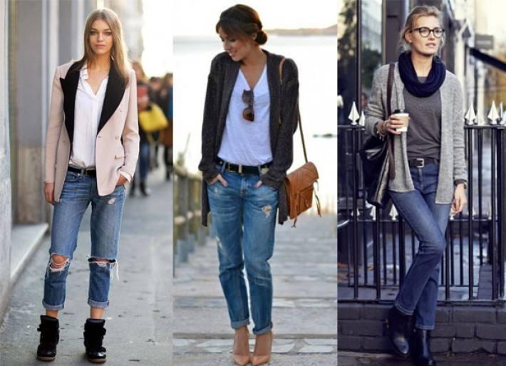 модные джинсы бойфренды рваные 2018-2019