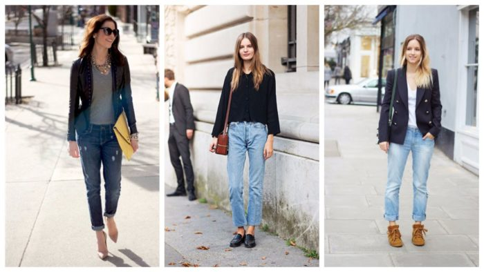 модные джинсы 2019-2020 бойфренды синие