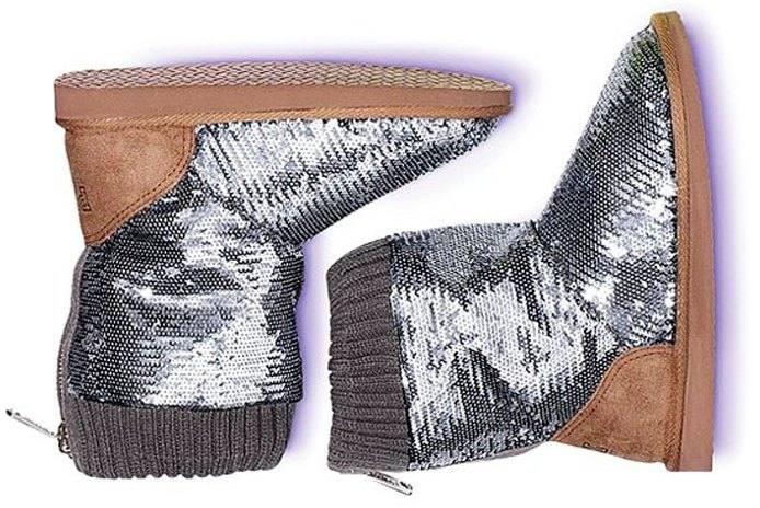 модные угги осень-зима 2019-2020: с пайетками