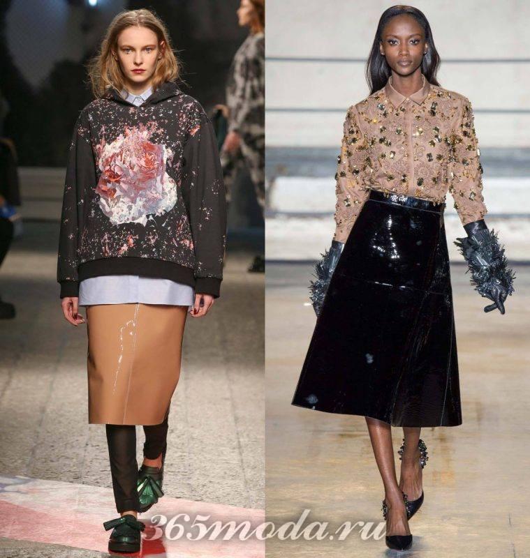 модные юбки из винила: юбки