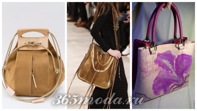 сумки гиганты в моде: коричневая, золотая, с принтом