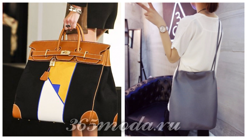 сумки гиганты в моде: с узором, серая