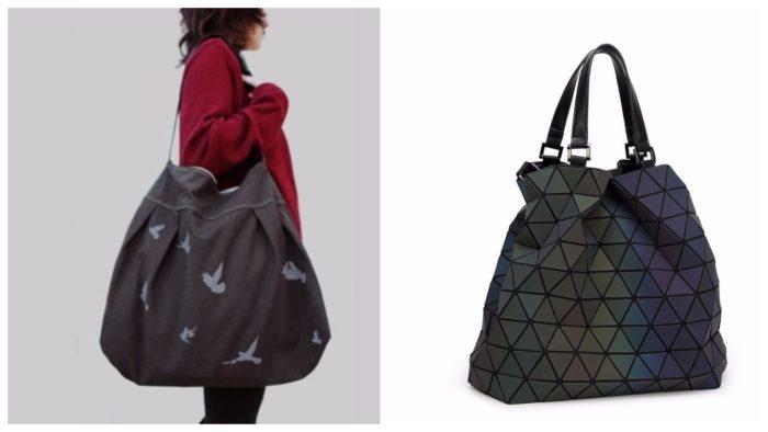 стильные сумки-гиганты: с принтом и треугольником