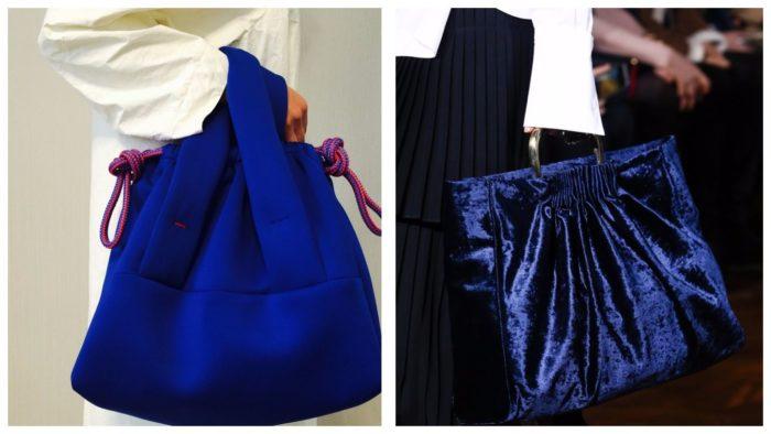 стильные сумки-гиганты: синего цвета