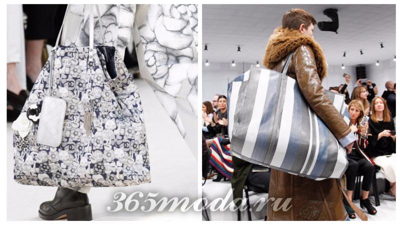 модная большая сумка: с принтами