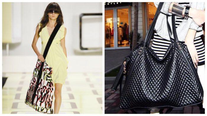 модная сумка шоппер: с принтом
